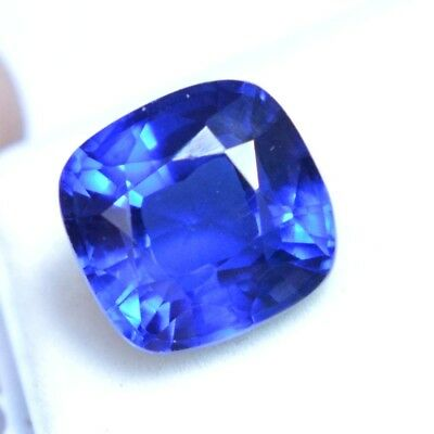 VVS 8.15 Ct Natural Kashmiri Blue Sapphire GGL Certified AAA++ Loose Gemstone