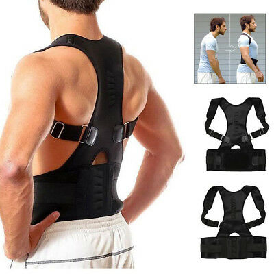 Adjustable Posture Corrector Back Support Shoulder Lumbar Brace Belt Men Women J
