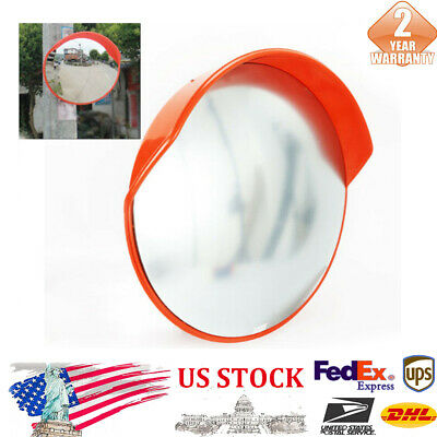 Orange Narrow RoadsOutdoor Traffic 45cm Wide-Angle Convex PC Mirror 18 inches
