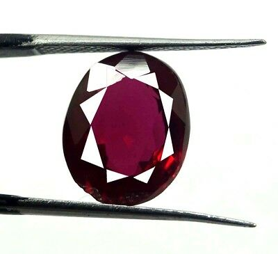 Xmas Offer GGL Certified 5.65 Ct Natural Oval Cut Red Burma Ruby Gemstone