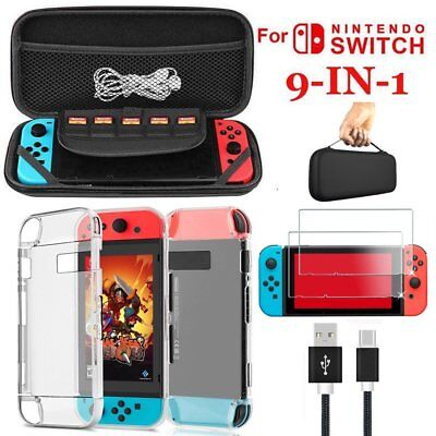 For Nintendo Switch Console Hard Case Bag Travel Carry Glass Screen Protector UK