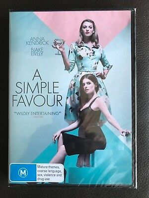 A Simple Favour (DVD, 2018) BRAND NEW and SEALED