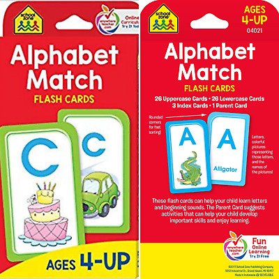 ABC KIDS ALPHABET Flash Cards Learning Brighter Child Flashcards Set
