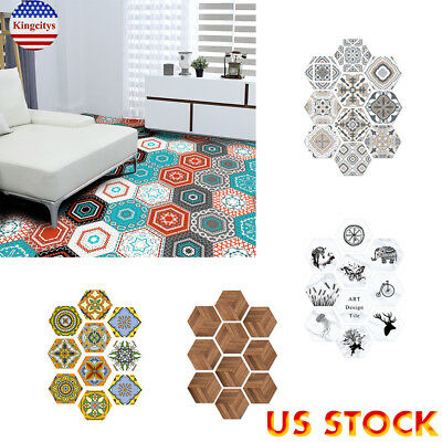 Waterproof Non Slip PVC Floor Self-Adhesive Wall Sticker Wallpaper Home Decor