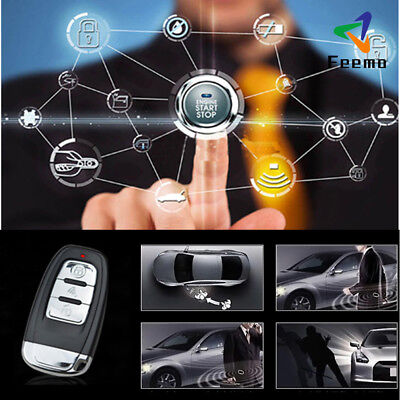 Alarm Start Security System Key Passive Keyless Entry Push Button Remote Kit