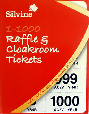 cloakroom tickets raffle tombola bingo draw numbered book 1 1000