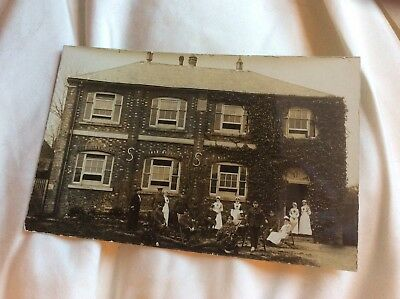 Wounded WW1 Soldier Nurse VAD MILITARY HOSPITAL HUNGERFORD 1916
