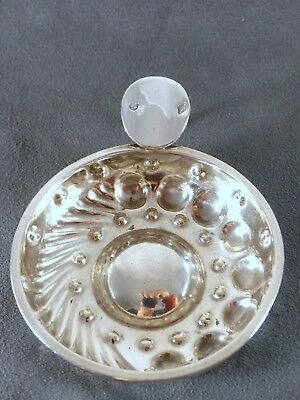 """Antique French Sterling Silver """"Tastevin"""" or Wine Tasting Cup Hallmark Coq 1798"""