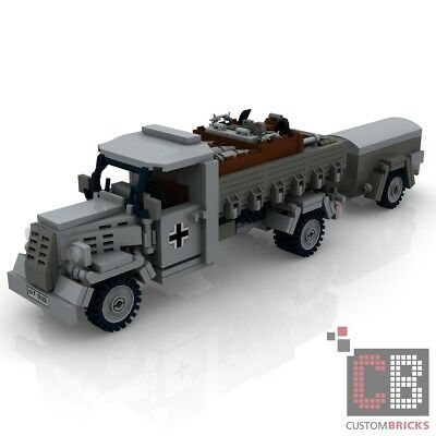 CUSTOM PDF Instructions WW2 WWII Halftrack SdKfz 250-1 for LEGO® Bricks