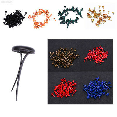 6606 50pcs Multicolor Round Decorative Nails Set Locks Mini Brads For Scrapbook