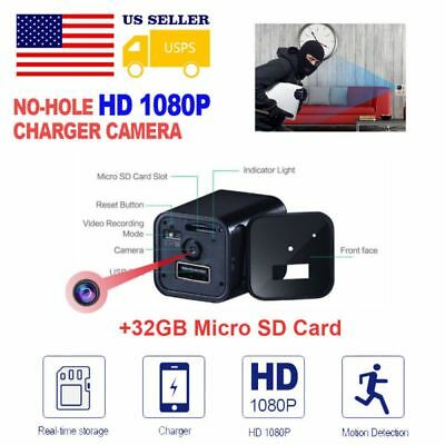 Mini 1080P Spy Security Plug Hidden WIFI Camera Phone USB Charger Wireless 32G