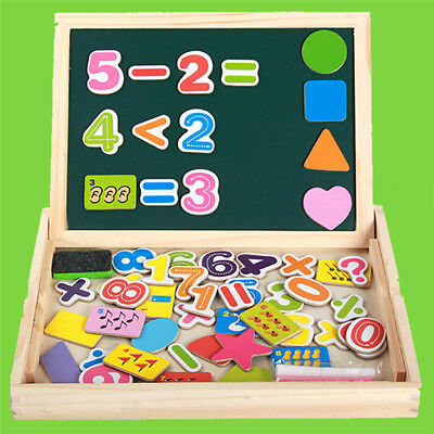 Wooden ABC Letters Alphabet 123 Numbers Animal Puzzle Childrens Kids Learning