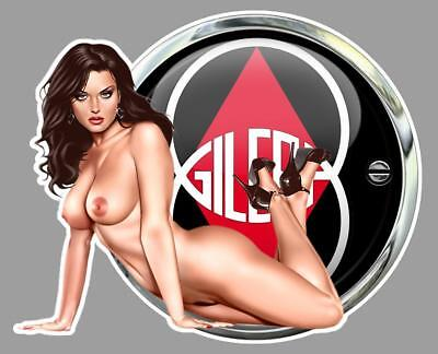 GILERA PIN UP  left Sticker gauche