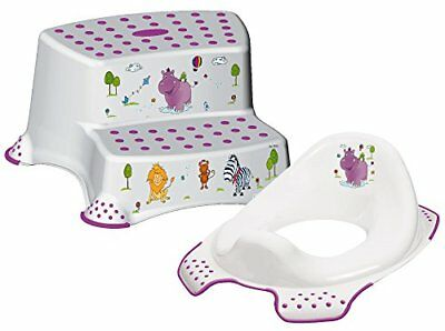 Happy Friends Hippo Child/Toddler Toilet Training Seat & Double Step Stool ...