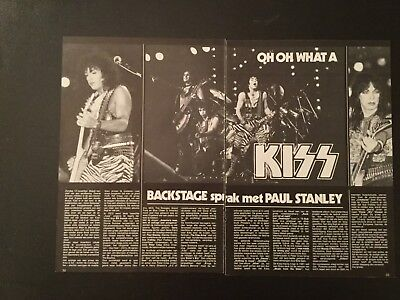 Original very hard to find kiss Belgium magazine four page article # 26