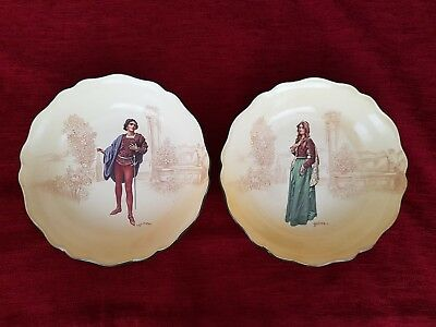 Pair Of Romeo And Juliet Royal Doulton Fruit Bowls c. 1914