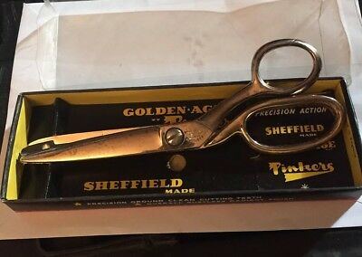 """Vintage RICHARDS SHEFFIELD Golden Age Pinking Shears -"""" Pinkers """""""