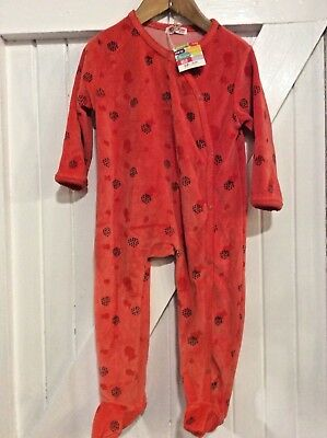 Baby DPam 18 Months Velour babygrow fish print motif warm and  Cosy