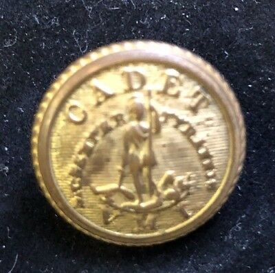 Original Virginia Military Institute Cadet Button.  D. Evans Attleboro Backmark