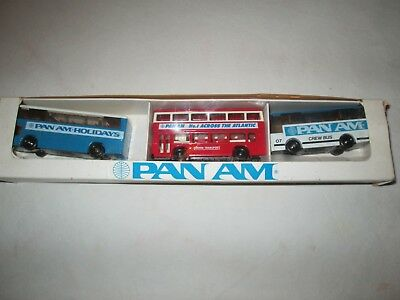 Vintage Pan Am Bus Set NEW In Box - LLedo Marathons England