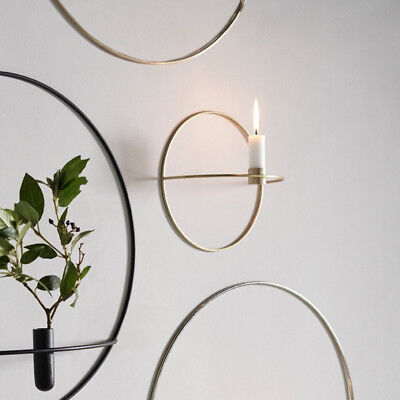 3D Geometric Candlestick Metal Wall Candle Holder Sconce Nordic Style Decor