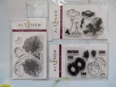 Altenew Clear Mini Stamps - Set of 3, Morning Glory and Elements