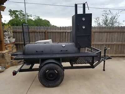 BBQ Pit Smoker Trailer Two Door w/ Double Rack