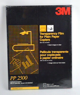 3m Transparency Film for Plain Paper Copiers  8.5 x 11'' Black image on Clear