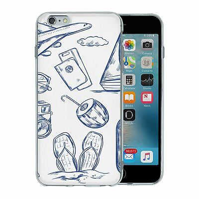 For Apple iPhone 6 Plus Silicone Case Travel Holiday Pattern - S4750