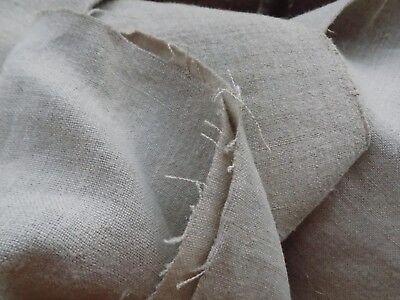Homespum Hemp Fabric 2,8x0,68m 19thC Soft Gray Storage condition Never used
