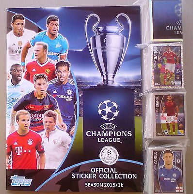 Topps Champions League 2015/2016 COMPLETE FULL SET  STICKERS 619/619