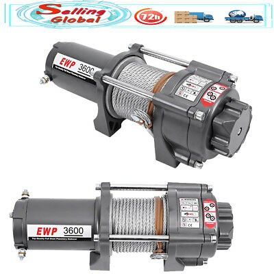 3600LBS DC 12V 1.0KW Electric Winch for Car Yacht ATV Truck Boat Trailer SUV UK