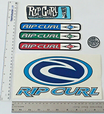 RIP CURL STICKERS SET OF 6  ALL ONE FOR PRICE $25 SURFING 90's THE SEARCH