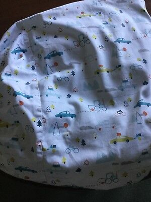 Two Mamas And Papas  Car Patterned Cotton Fitted Cot Sheets