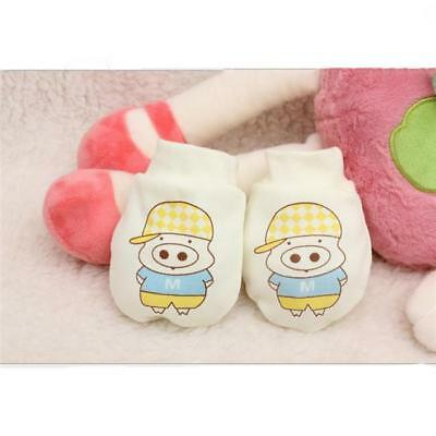 Winter Cartoon Pig Print Newborn Baby Boys Girls Breathable Gloves one