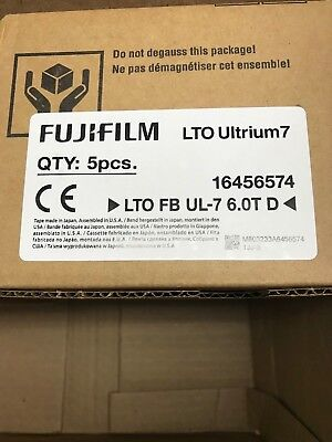 Fujifilm Lto Ultrium 7 6/15Tb Data Backup Tape Fuji 116456574 Lto-7 New 5 Pack