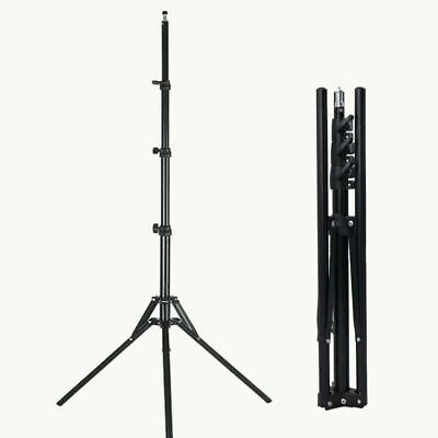 Collapsible Light Stand Metal Portable Foldable Tripod Boom Arm for Studio