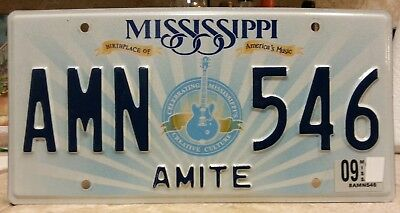 Mississippi Amite county license plate tag NO RESERVE!!!!
