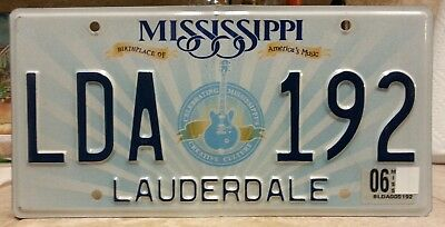 Mississippi Lauderdale county license plate tag NO RESERVE!!!!