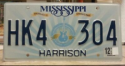 Mississippi Harrison county license plate tag NO RESERVE!!!!