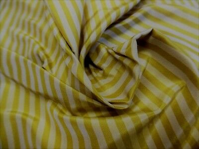 "HIGH END SILK TAFFETA~SMALL STRIPES~BUTTERSCOTCH/DAFFODIL~ 9""x27""~DOLL FABRIC"