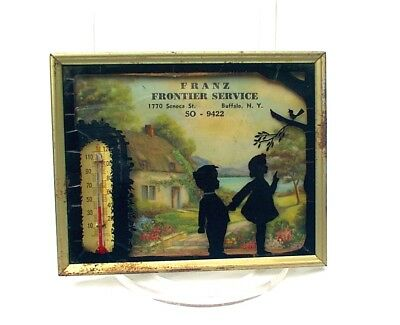 Reverse Painting On Glass Silhouette Advertising Frantz Gas Station Buffalo NY