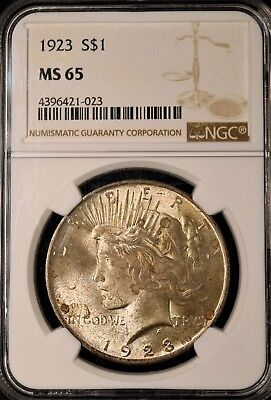 1923 Peace Silver Dollar - NGC MS65 - GEM BRILLIANT UNCIRCULATED - #421-023