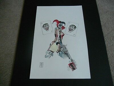 Harley Quinn In Lingerie Full Color 12 X 18 Inch *** Must See *** Beautiful ***
