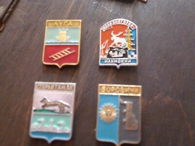 COLLECTION of VINTAGE RUSSIAN ENAMEL PIN BADGES EXCELLENT CONDITION