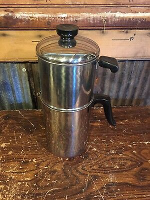 Revere Ware 8 Cup Copper Clad Stainless Drip Coffee Pot