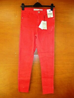 Denim & Co Red Super Stretch Skinny Jeans Size 12 - Selling For Charity