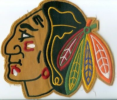 "Chicago Black Hawks Ice Hockey Nhl Sew On Large Crest   9"" By 9"""