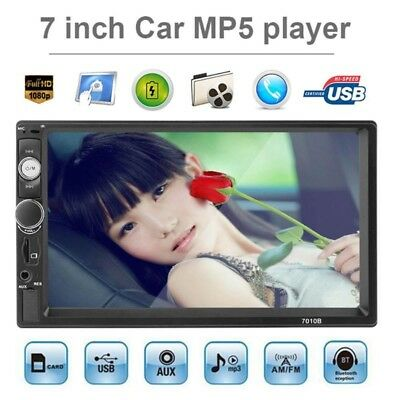 1x Car MP5 Player Bluetooth Touch Screen Stereo Radio HD 7inch 2DIN+Rear Camera