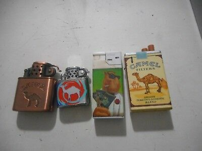 Lot Of 4 Camel Lighters As Is Free Shipping!!!